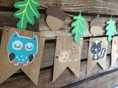 Hey, I found this really awesome Etsy listing at https://www.etsy.com/pt/listing/251892404/woodland-party-banner-baby-shower