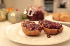 Scones with cranberry and blackberry chia jam | Livias Kitchen   When I started to run my monthly cream free cream tea, the first recipe I began playing around with was scones. Scones with jam and clotted cream is so traditionally British and I wanted to make sure that my version was as delicious as the real thing! These went down so well at the first …