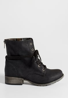 Jade faux suede combat bootie in black (original price, $44.00) available at…
