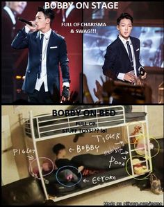 BOBBY ON STAGE VS. BOBBY ON BED | allkpop Meme Center