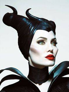 Actress Angelina Jolie takes on the titular role as Maleficent in the upcoming Disney film with the same name. Mert Alas and Marcus Piggott… Maleficent Makeup, Maleficent 2014, Maleficent Costume, Maleficent Movie, Maleficent Tattoo, Maleficent Drawing, Diy Maleficent Horns, Maleficent Quotes, Disney Villains