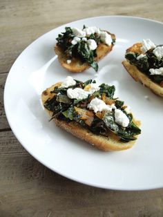 Smoky Kale with Creamy Goat Cheese on Toast recipe.  This is the BEST way to eat kale! I've had this for breakfast, lunch, and even turned it into a healthy appetizer and it was a big hit.