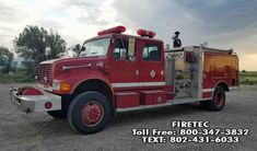 Used fire engine for sale. All Wheel Drive Fire Engine - call Firetec or text Used Engines, Engines For Sale, Fire Trucks For Sale, Central States, Fire Apparatus, Evening Sandals, Fire Engine, Fire Department, Firefighter