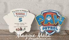Paw Patrol Invitation, MaggieMadeCards.com