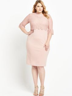 So Fabulous! Double Layer Midi Dress In a choice of either nude pink or black, this beautiful double layer midi dress by So Fabulous! was made for those extra special occasions to celebrate. The slim fit shows off your gorgeous and enviable curves, while the flattering double layer comes in lovely lace with sheer lace sleeves to add a dreamy, vintage-inspired style to your outfit.Simply add a pair of court shoes and a cute clutch to keep your look understated and effortlessly chic.Washing…
