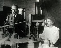 Pierre and Marie Curie, circa 1890s. Marie Skłodowska-Curie conducted pioneering research on radiation, and was the first woman to be awarded a Nobel Prize, and the only person to be awarded two Nobel Prizes in multiple fields (Physics, 1903, Chemistry, 1911).