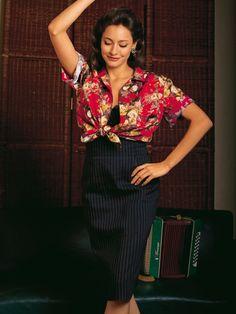 pin stripe skirt pattern - love the back