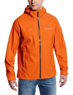 Columbia Men's Evapouration Jacket  Omni-Tech waterproof/breathable fully seam sealed  Omni-Wick EVAP advanced evaporation  Attached, adjustable storm hood  Underarm venting. Adjustable cuffs, Drawcord adjustable hem  Drop tail. Packable into hand pocket  Packable into Hand Pocket