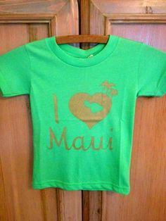 Beach Wahine - Designer Hawaiian Clothing, Jewelry, Swimwear and Accessories - I Love Maui t-shirt, $26.00 (http://www.beachwahine.com/whats-new/i-love-maui-t-shirt/)