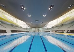 10 of the best stadiums and venues from past Olympics: Aquatics Centre by Zaha Hadid, London 2012. Photograph by Hufton + Crow