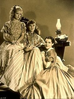 Joan Bennett, Katharine Hepburn, Frances Dee in Little Women 1933