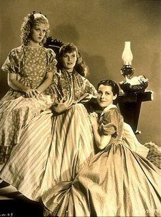 Joan Bennett, Katharine Hepburn, Frances Dee in Little Women 1933