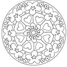 Free Mandalas page «mandala-to-color-easy-children (13)».