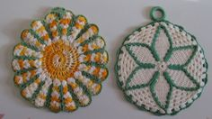 1940's Textiles / PotHolders / Hand Made / by VandyleeVintage, $19.00