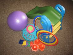 Creating an inexpensive and easily stored indoors gym for toddlers and preschoolers. Great for winter time and developing gross motor skills.
