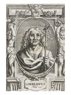 Portrait de saint Philippe avec attributs de JEAN MATHEUS - Musée national de la Renaissance (Ecouen)