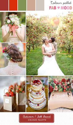 autumn wedding colour palette   fabmood.com