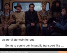 going to comiccon on public transport