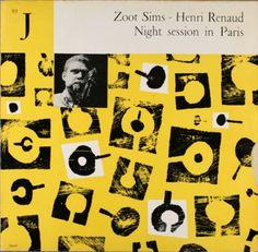 Night Session in Paris, Zoot Sims - Henri Renaud, 1956, Le Club Francais Du Disque LP