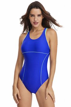 303a2989bf Hualong Sexy Royal Blue Cut Out Retro One Piece Swimsuit #fashion #style  #love. Online Store ...