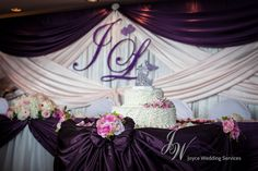 #Receptiondecor with #backdrop, and #headtable and #caketable #drapery