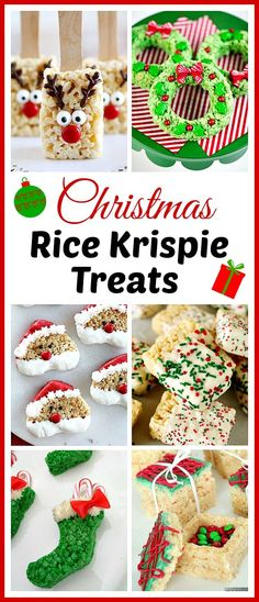15 Homemade Christmas Rice Krispie Treats- If you want to celebrate the holidays in a delicious and easy way, then you have to make these homemade Christmas Rice Krispie Treats! | reindeer, wreath, Santa, elf, lumps of coal, #Christmas #easyrecipe #dessert #christmasrecipes