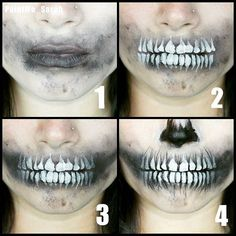 paintme_sarah (Halloween Makeup Scary) – Halloween Make Up Ideas Makeup Fx, Scary Makeup, Cosplay Makeup, Costume Makeup, Maquillage Black, Horror Make-up, Make Carnaval, Make Up Gesicht, Halloween Makeup Looks