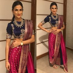 7 Best Pant-Saree Looks To Steal From Our Favourite Celebrities! Saree Wearing Styles, Saree Styles, Indian Designer Outfits, Designer Dresses, Indian Designers, Indian Dresses, Indian Outfits, Mehendi Outfits, Western Dresses
