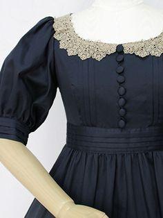 Victorian maiden Royal Marine Long Dress bust details