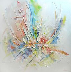Online Shop Handmade Modern Abstract New Style Flower Palette Knife Oil Painting on Canvas Hand Painted Wall Artwork in Calligraphy Paints Abstract Flowers, Abstract Watercolor, Drawing Heart, Hand Painted Walls, Texture Painting, Oil Painting On Canvas, Painting Inspiration, Flower Art, Palette Knife
