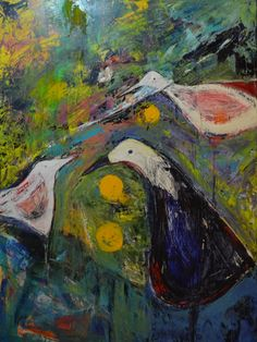Green poer III - 40 X 30 - acrylic oil on wrapped gallery canvas