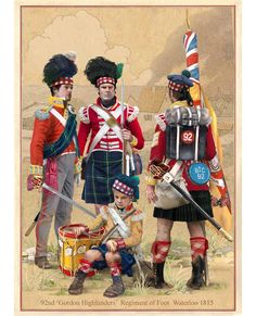 Gordon Highlanders, Waterloo 1815