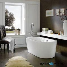 1685x785mm Modern Bath - Varna Freestanding - Small