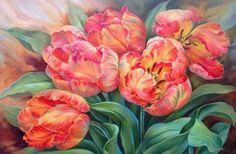 Тюльпаны - Схемы вышивки - Нина1976 - Авторы - Портал «Вышивка крестом»