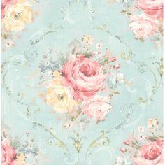Go Wallpaper, Green Wallpaper, Pattern Wallpaper, Shabby Chic, Traditional Wallpaper, Vintage Decor, Vintage Floral, Floral Wallpapers