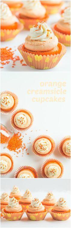 Orange Creamsicle Cupcakes- these are so fun! ~ http://bakingamoment.com