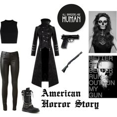 Tate Langdon Inspired Outfit by vampiresblood on Polyvore (I'm vampiresblood) Honestly, I'm incredibly proud of this set, I love it!