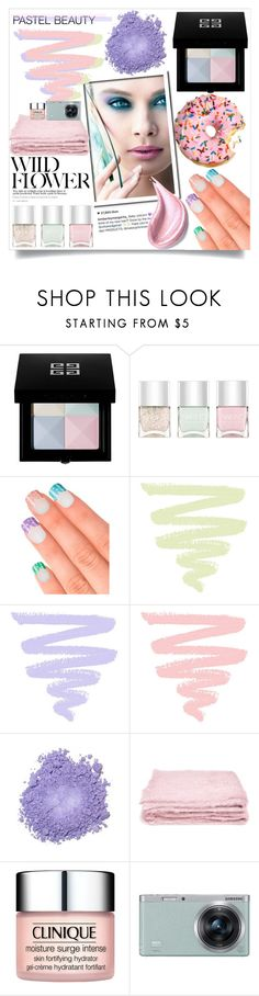 """""""Pretty Pastel Makeup"""" by orietta-rose ❤ liked on Polyvore featuring beauty, Givenchy, Nails Inc., Elegant Touch, abcDNA, Clinique, Samsung, Estée Lauder and pastelmakeup"""