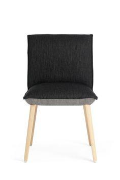 Chaise SOFT bicolore par Mobitec. Cette chaise design à 2 facettes qui apportera une touche d'originalité et de gaieté à votre table, sans oublier une bonne dose de confort!