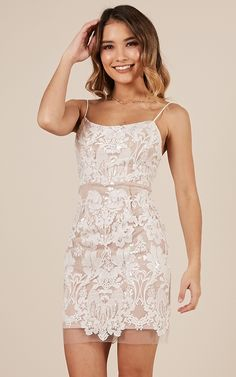 Homecoming dresses tight - Talk Me Down Dress In White And Nude Lace Produced – Homecoming dresses tight Elegant Dresses, Pretty Dresses, Women's Dresses, Casual Dresses, Dresses For Work, Summer Dresses, Wedding Dresses, Awesome Dresses, Backless Dresses
