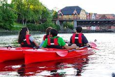 Must do in Trondheim; Kayaking on the river Nidelven. Read more: Trondheim Kajakk