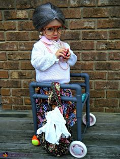 Victoria: My two year old daughter dressed up as a Maw-Maw for Halloween this year. I found the idea off of pinterest but also added more accessories to her costume. I...                                                                                                                                                     More