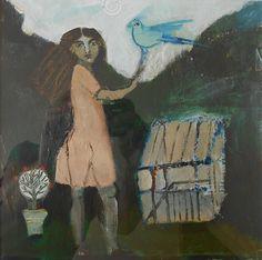 Nina Feldman, Blue Bird. Acrylic on board.