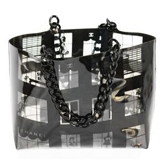 Large 2003 Chanel Collector Window Shop   From a collection of rare vintage tote bags at https://www.1stdibs.com/fashion/handbags-purses-bags/tote-bags/