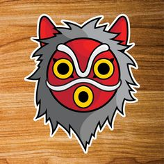 Image of Princess Mononoke mask