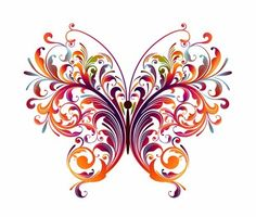 my tatoo idea for years now Butterfly Clip Art, Butterfly Wallpaper, Butterfly Pattern, Butterfly Artwork, Butterfly Mandala, Butterfly Pictures, Butterfly Tattoos, Art Papillon, Aquarell Tattoo