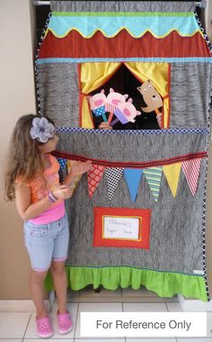 Deluxe Doorway Puppet Theater Set FREE SHIPPING by Nurserythings