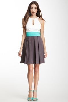 Jessica Simpson Cutout Halter Dress