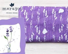 Lovely treat for yourself or a gift for someone you love - handmade lavender pouch filled with organic lavender from France. Made of own designed fabrics printed by Spoonflower    #lavender #pouch #sachet #cushion #gift #merupri #handmade #eco #organic #cotton