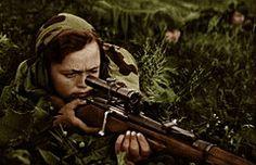 ww2 Soviet lady snipe